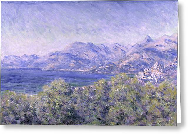 View Of Ventimiglia, 1884 Greeting Card by Claude Monet