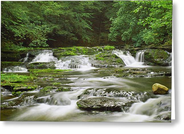 View Of Waterfalls In A River, Dingmans Greeting Card
