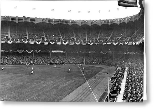 View Of Yankee Stadium Greeting Card