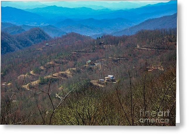 View On Blue Ridge Parkway Greeting Card