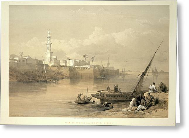 View On The Nile Greeting Card by British Library