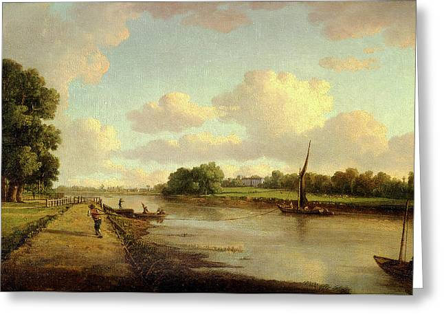 View On The River Thames At Richmond View On The River Greeting Card by Litz Collection