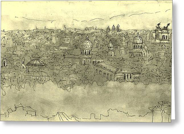 View Over Roma Greeting Card