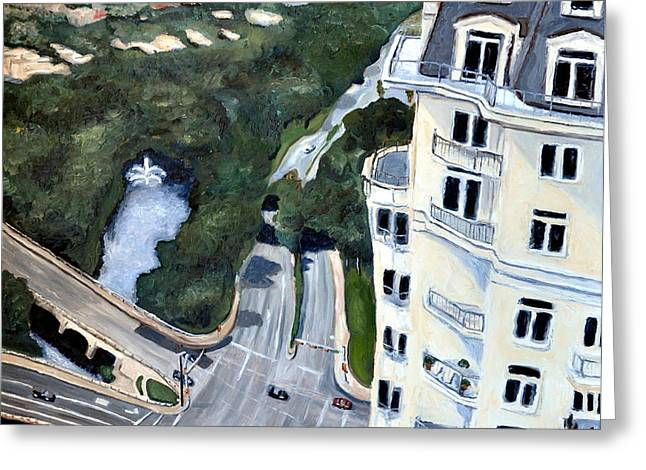 View Over Turtle Creek Greeting Card by Sandra Mucha