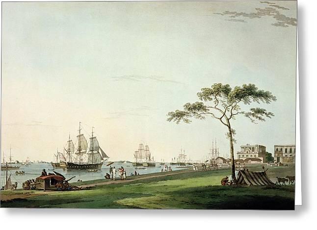 View Taken On The Esplanade, Calcutta Greeting Card by Thomas Daniell