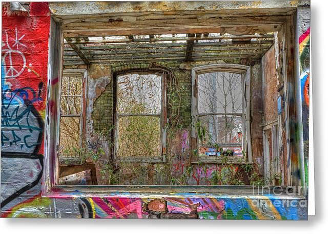 View Through A Window Greeting Card by David Birchall