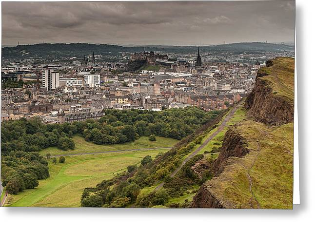 Greeting Card featuring the photograph View To Edinburgh by Sergey Simanovsky