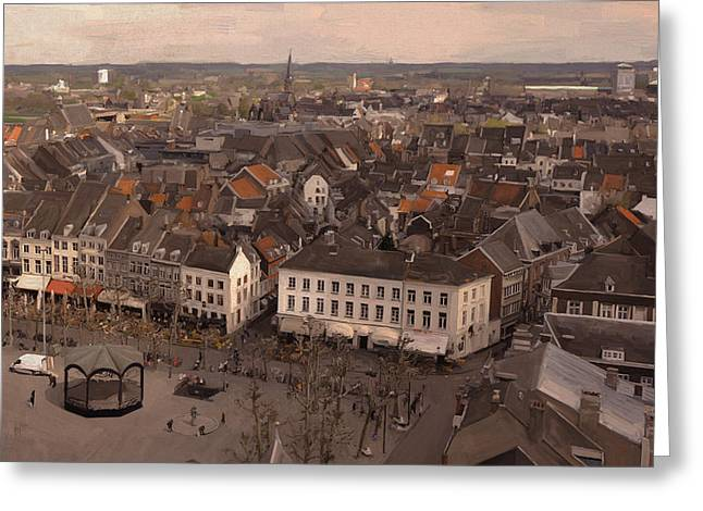 View To The East In Maastricht Greeting Card by Nop Briex