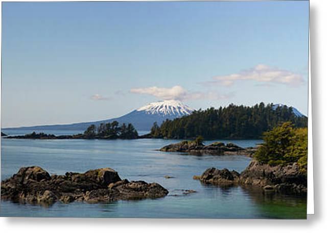 View Toward Mount Edgecumbe, Sitka Bay Greeting Card