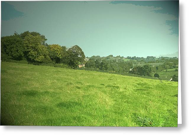 View Towards Kniveton, Looking Across Kniveton Brook Greeting Card