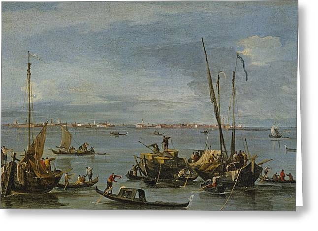 View Towards Murano From The Fondamente Greeting Card