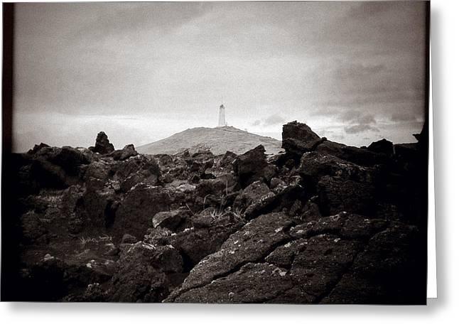 View Towards Reykjanesviti Greeting Card by Dave Bowman