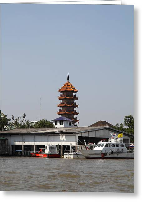Views From A River Boat Taxi In Bangkok Thailand - 011315 Greeting Card by DC Photographer
