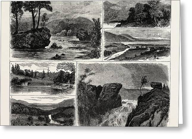 Views In The Vale Of Rannoch Perthshire Scotland 1 Greeting Card by Scottish School