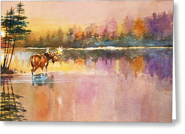 Vigil In The Shallows At Sunrise Greeting Card