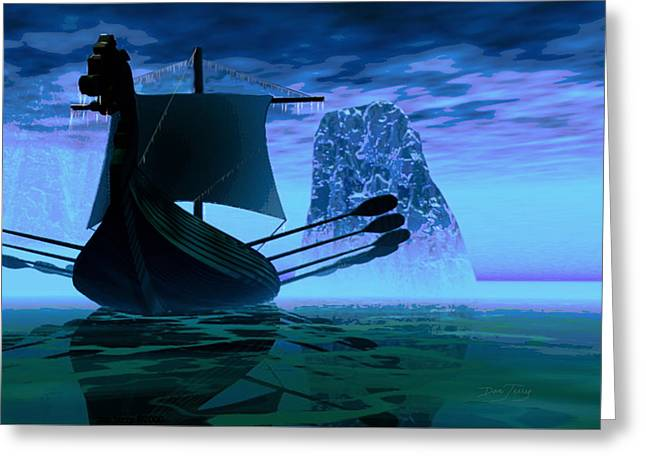 Viking Journey Greeting Card by Dan Terry