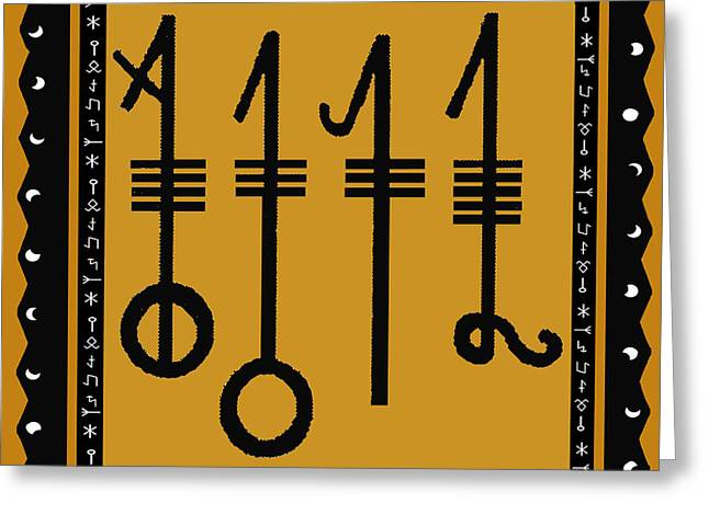 Greeting Card featuring the digital art Viking Sleepthorn Spell by Vagabond Folk Art - Virginia Vivier