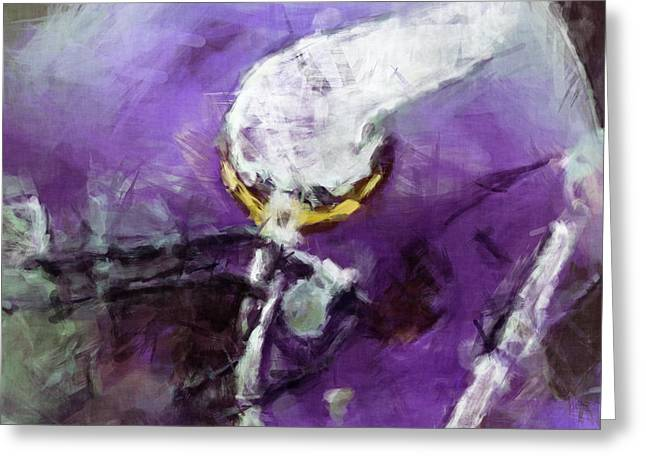 Vikings Art Abstract Greeting Card