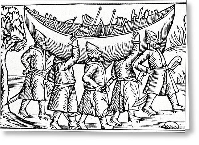 Vikings Greeting Card by Cci Archives