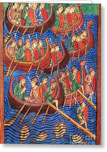 Vikings Invade England 9th Century Greeting Card