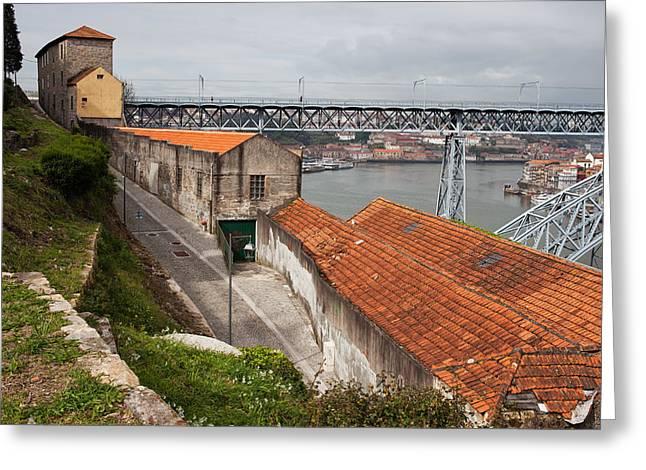 Vila Nova De Gaia Urban Scenery In Portugal Greeting Card