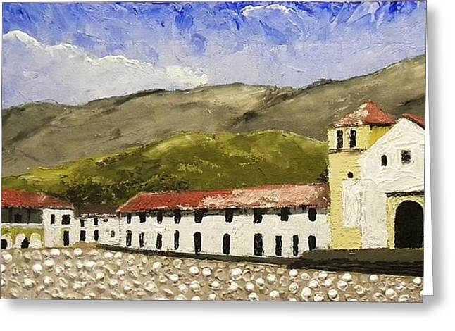 Villa De Leyva Colombia Greeting Card