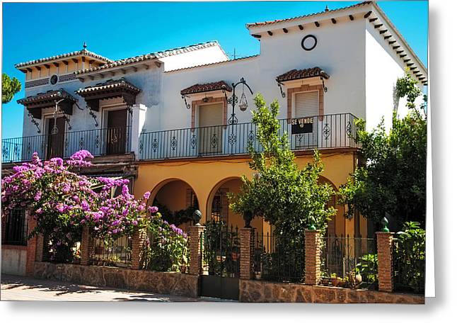 Villa In Ronda. Spain Greeting Card by Jenny Rainbow
