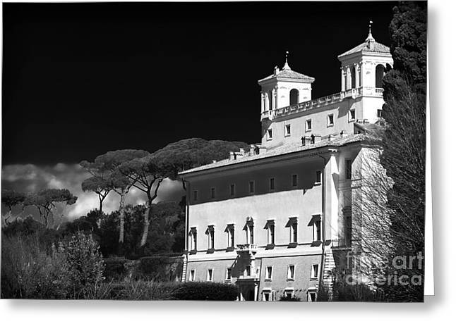 Villa Medici Greeting Card by John Rizzuto