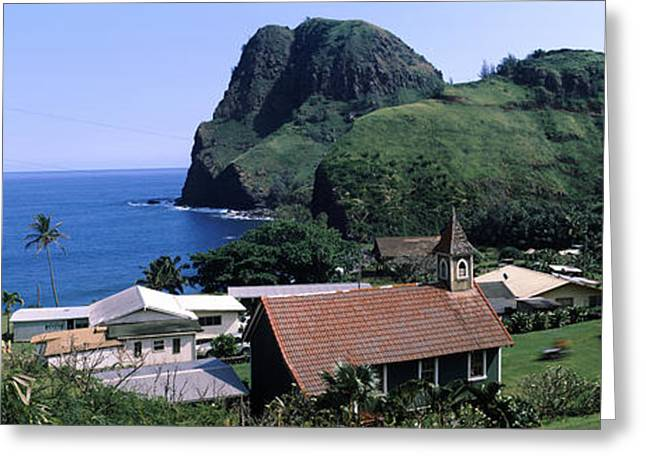 Village At A Coast, Kahakuloa, Highway Greeting Card