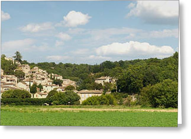 Village At Hillside, Rochegude Greeting Card by Panoramic Images