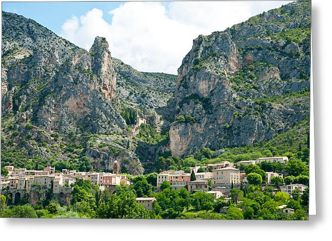 Village At Mountainside Greeting Card by Panoramic Images