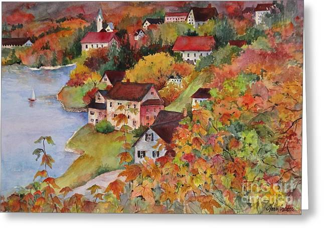 Village By The Sea Greeting Card by Sherri Crabtree