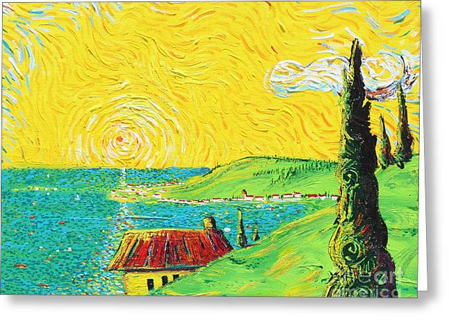 Village By The Sea Greeting Card by Stefan Duncan