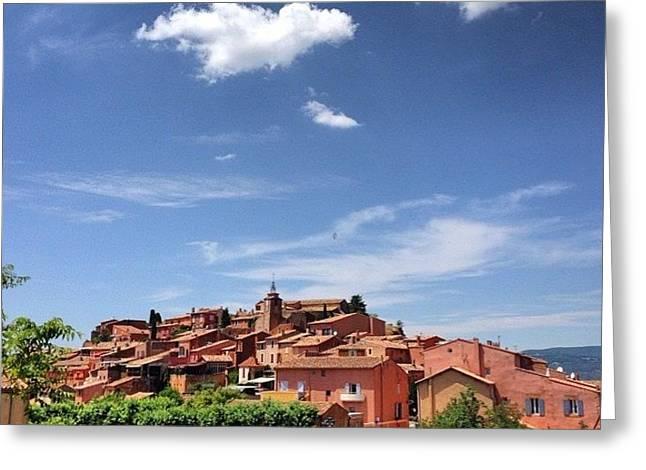 Village De Roussillon - Provence - France Greeting Card