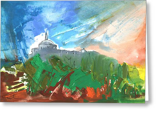 Village In Cathar Country Greeting Card by Miki De Goodaboom