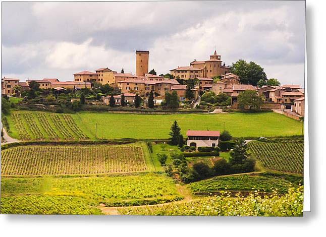 Village In French Countryside Greeting Card