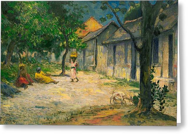 Village In Martinique Greeting Card by Paul Gauguin