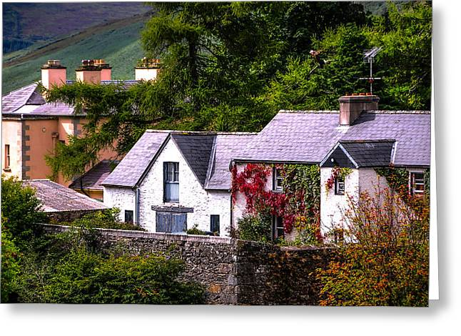 Village In The Wicklow. Ireland Greeting Card by Jenny Rainbow