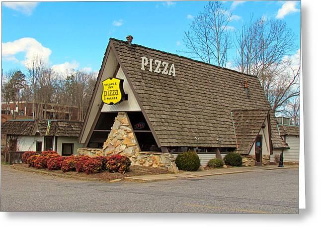 Village Inn Pizza Greeting Card by Cynthia Guinn