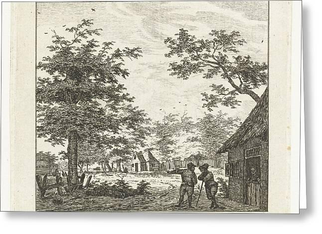 Village, Johanna De Bruyn Greeting Card by Johanna De Bruyn