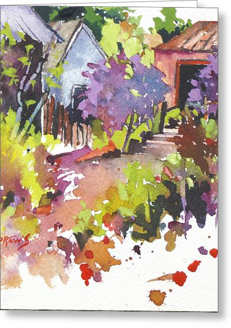 Village Life 3 Greeting Card by Rae Andrews