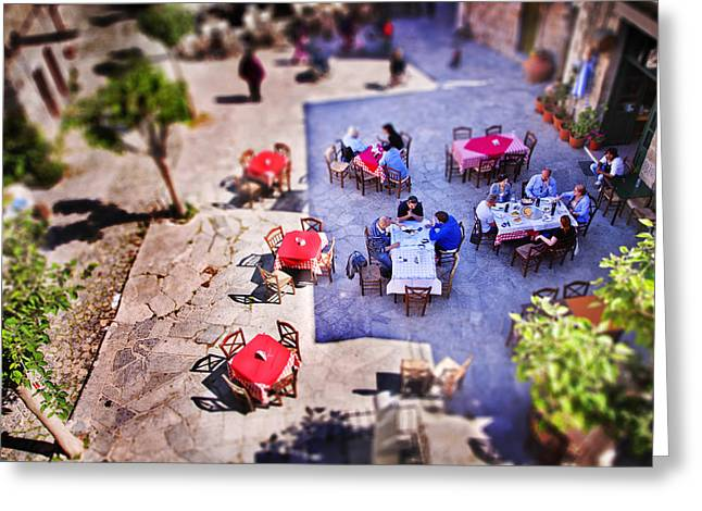 Village Of Chios Greeting Card