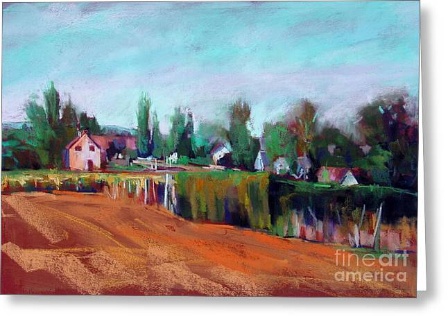Village Of Fontain Forche Greeting Card by Virginia Dauth