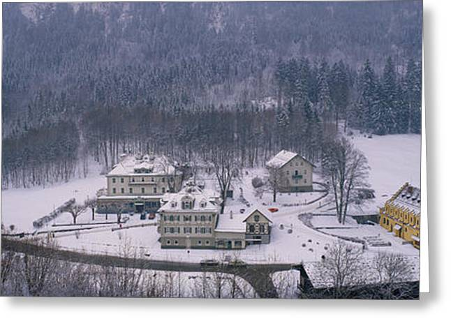 Village Of Hohen-schwangau, Bavaria Greeting Card by Panoramic Images