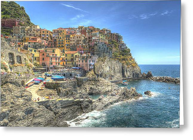 Village Of Manarola Greeting Card