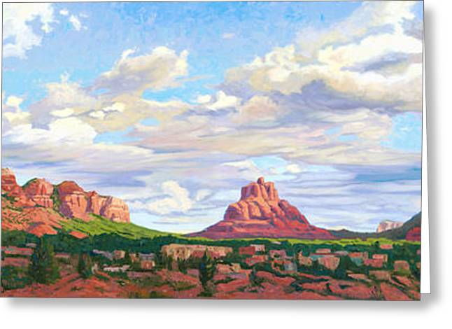 Village Of Oak Creek - Sedona Greeting Card by Steve Simon