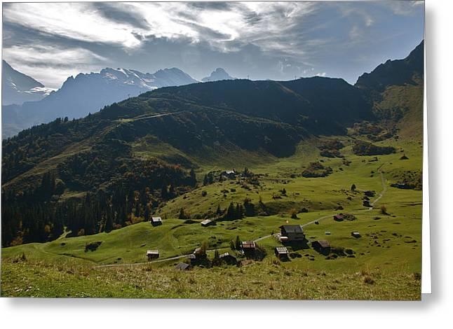 Village Of Spielbodenalp Switzerland Greeting Card