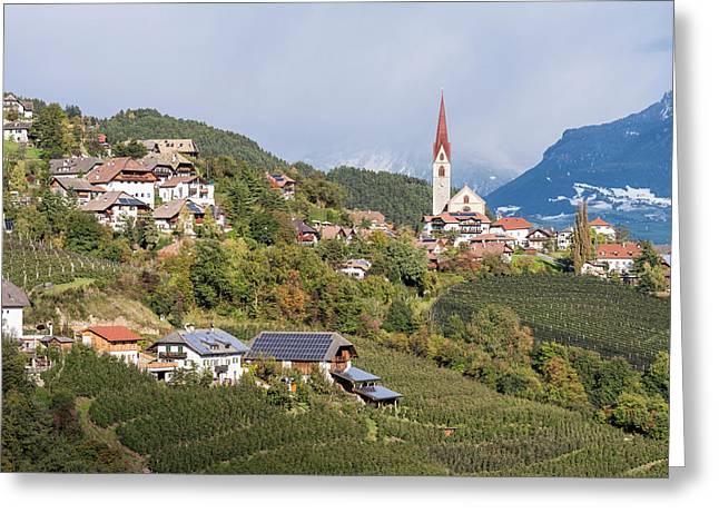 Village Of Unterinn (auna Di Sotto Greeting Card