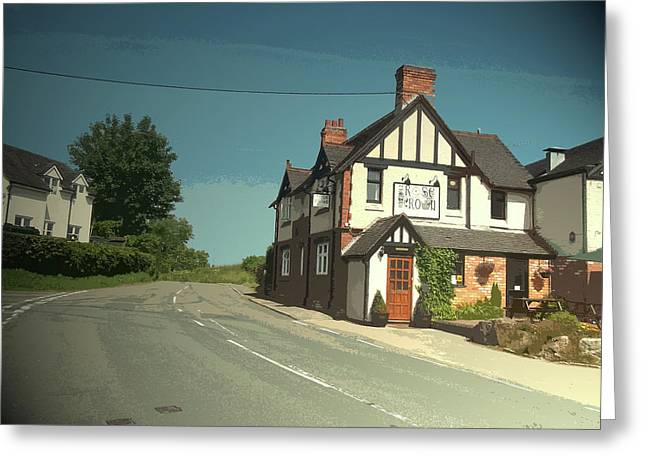 Village Scene In Middle Mayfield, The Rose And Crown Public Greeting Card