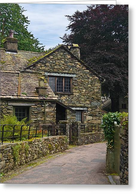 Village Street Grasmere Greeting Card